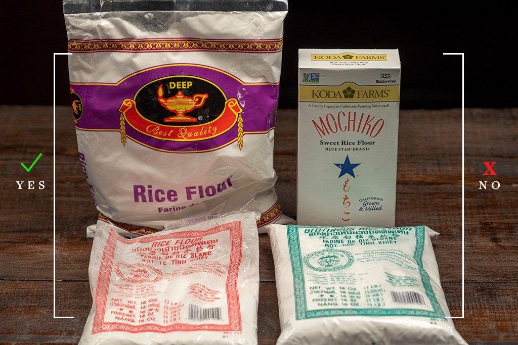 rice flour vs sweet rice flour
